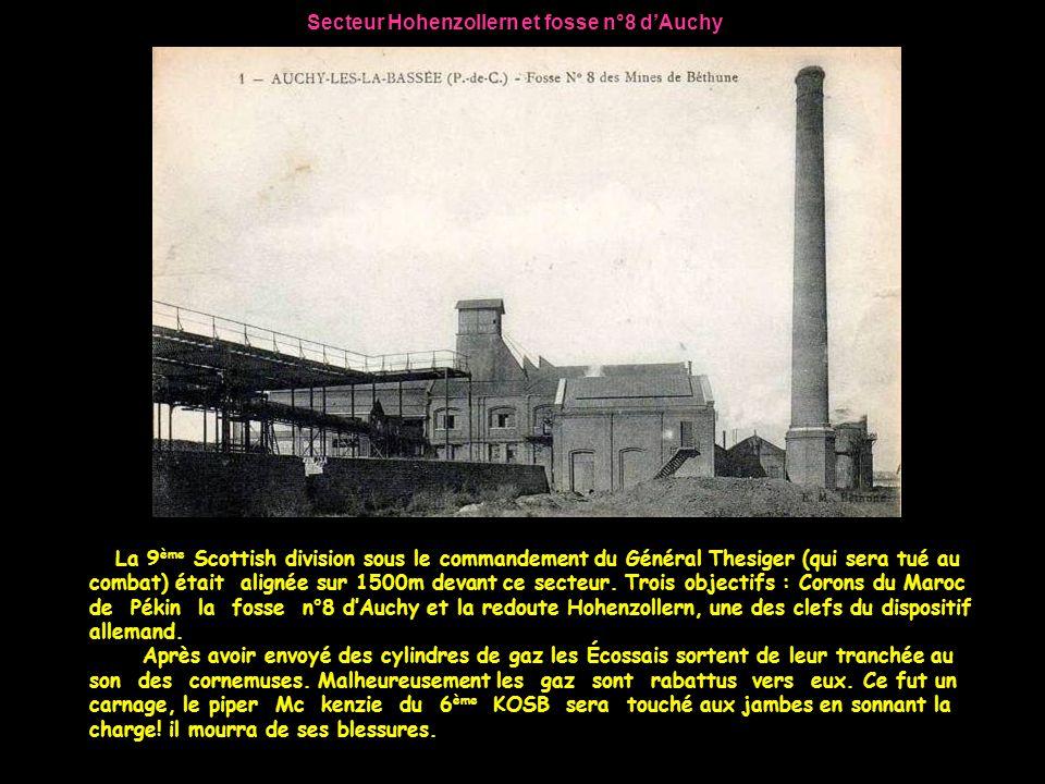 Secteur Hohenzollern et fosse n°8 d'Auchy