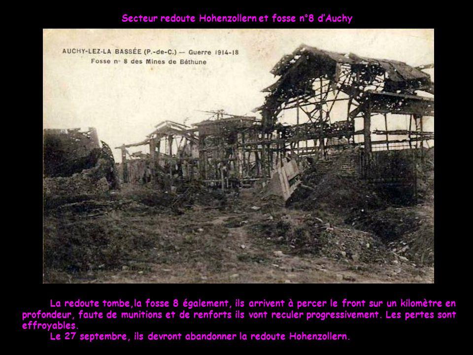 Secteur redoute Hohenzollern et fosse n°8 d'Auchy