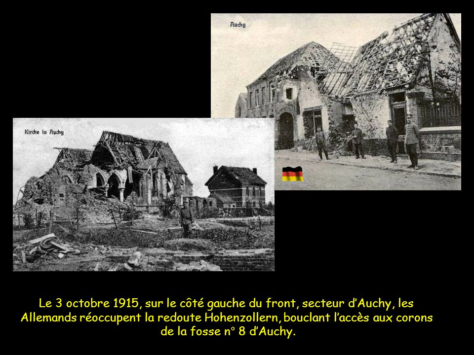 Le 3 octobre 1915, sur le côté gauche du front, secteur d'Auchy, les
