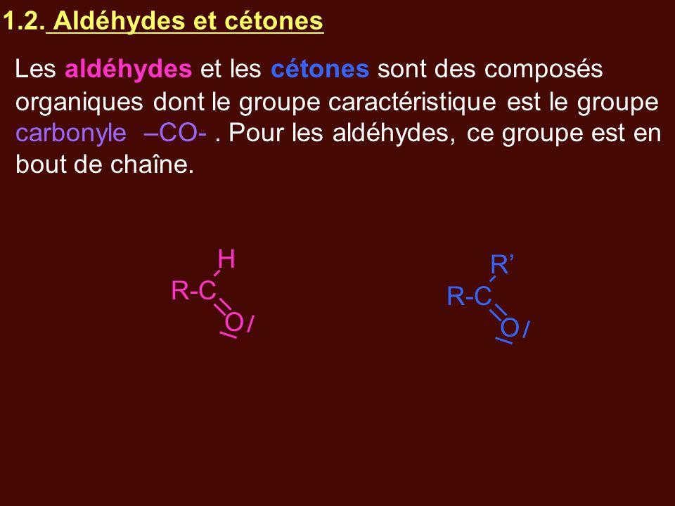 1.2. Aldéhydes et cétones