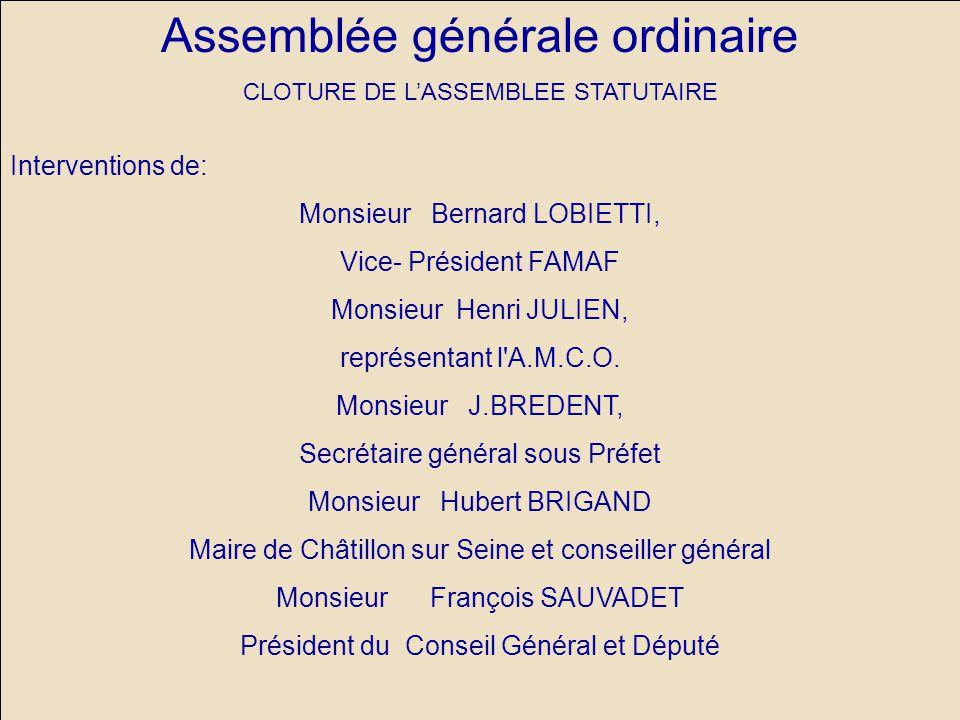Assemblée générale ordinaire