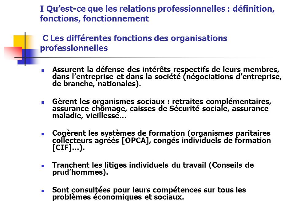 Droit du travail les relations professionnelles le - Qu est ce que le plafond de la securite sociale ...