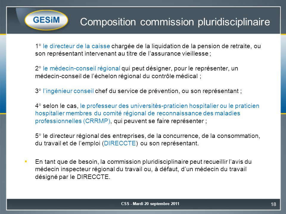 Composition commission pluridisciplinaire