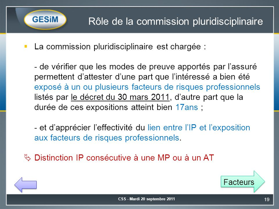 Rôle de la commission pluridisciplinaire