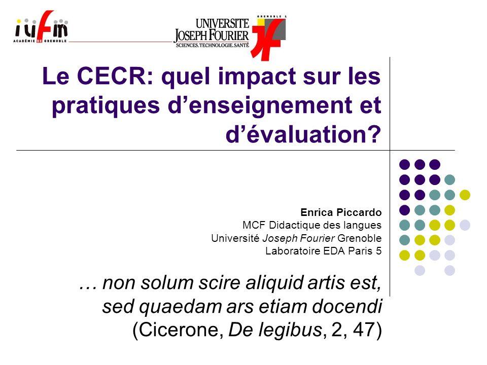 Le CECR: quel impact sur les pratiques d'enseignement et d'évaluation