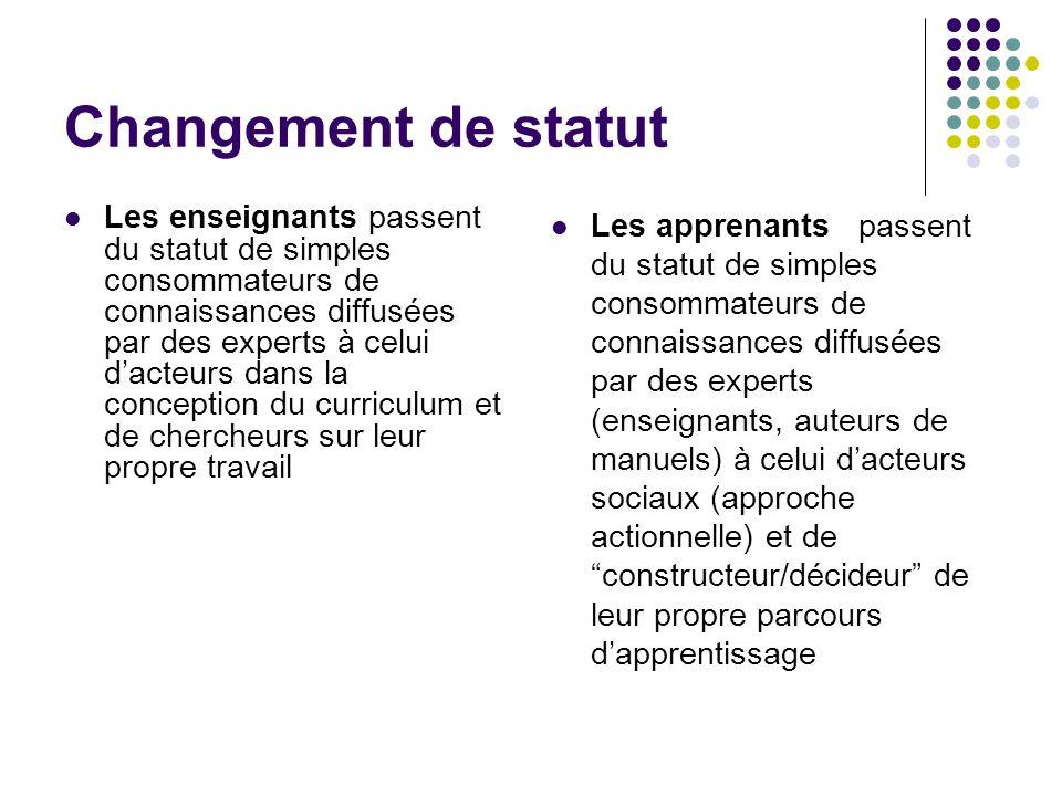 Changement de statut