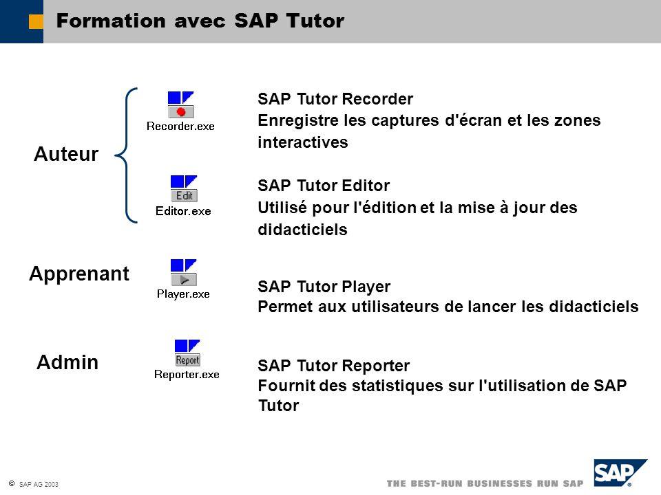 Formation avec SAP Tutor