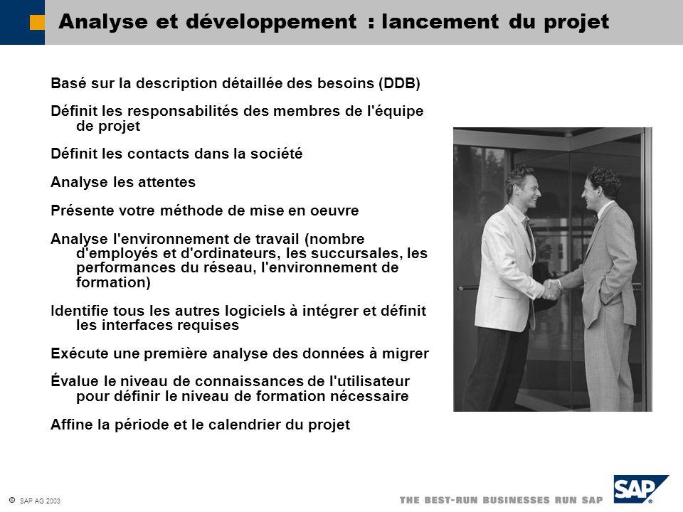 Analyse et développement : lancement du projet