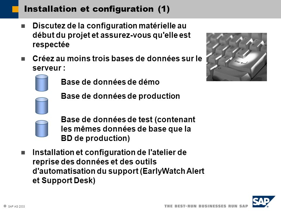 Installation et configuration (1)