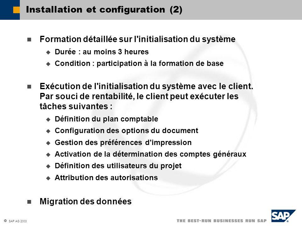 Installation et configuration (2)