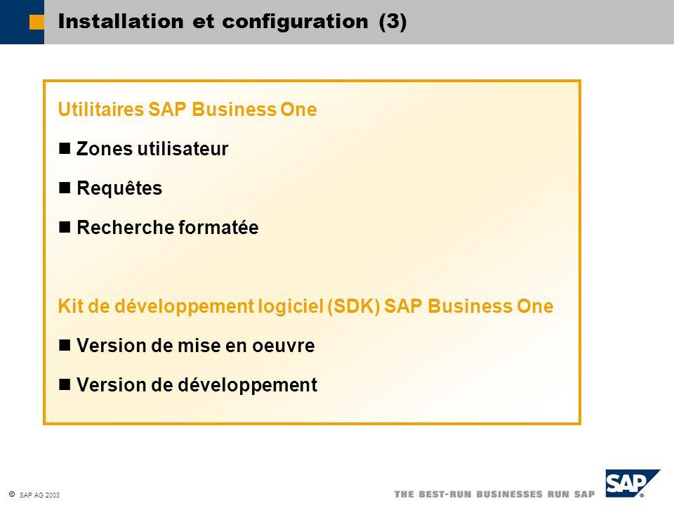 Installation et configuration (3)