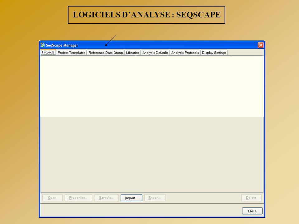 LOGICIELS D'ANALYSE : SEQSCAPE