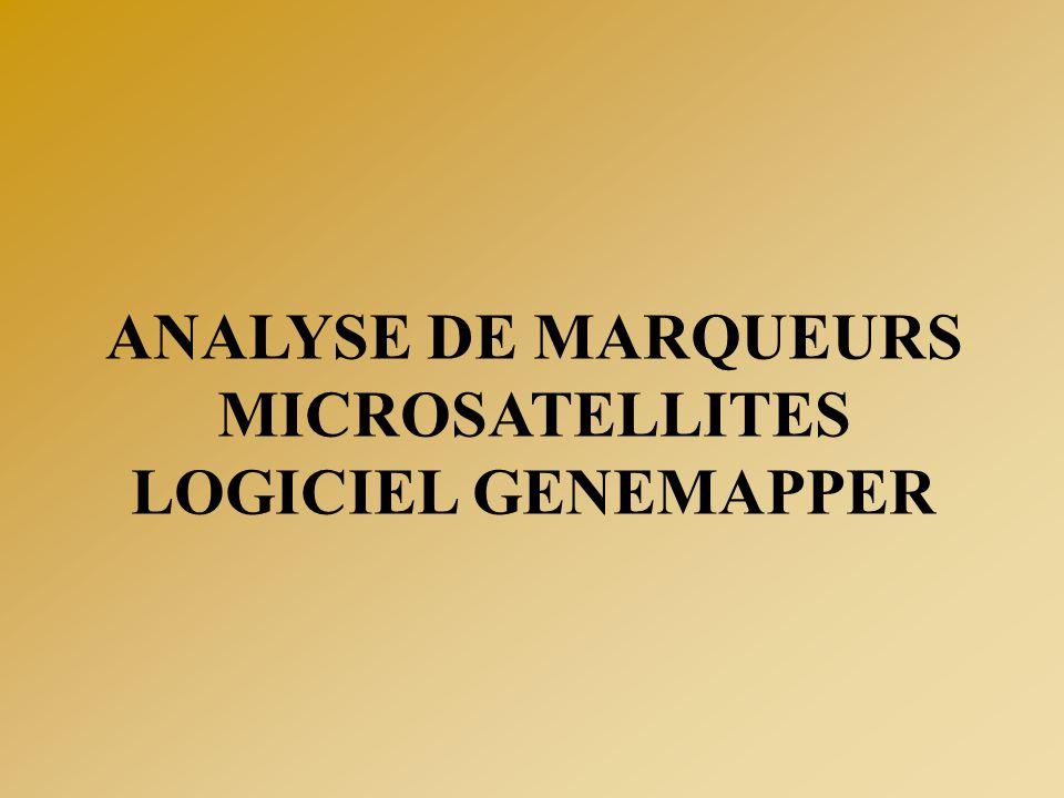 ANALYSE DE MARQUEURS MICROSATELLITES