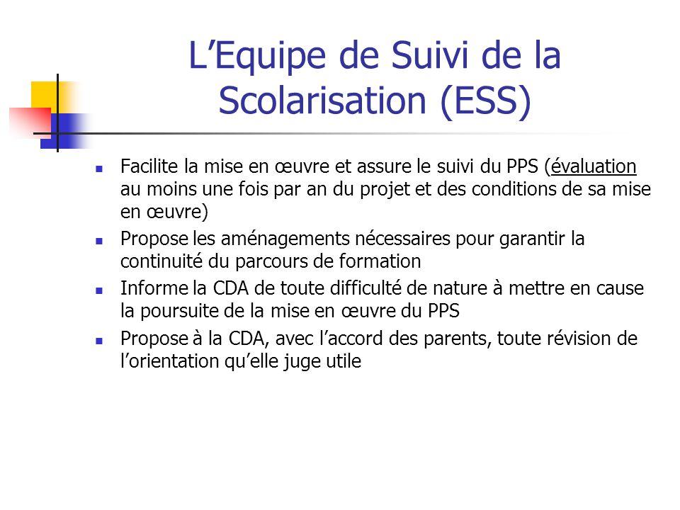 L'Equipe de Suivi de la Scolarisation (ESS)