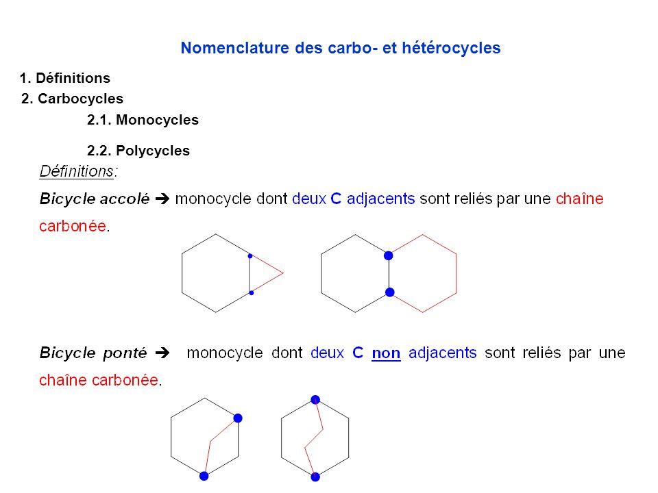 Nomenclature des carbo- et hétérocycles