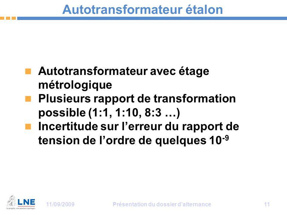 Autotransformateur étalon