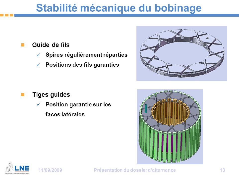 Stabilité mécanique du bobinage