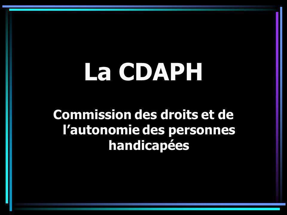 Commission des droits et de l'autonomie des personnes handicapées