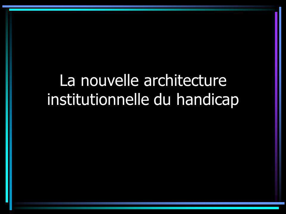 La nouvelle architecture institutionnelle du handicap
