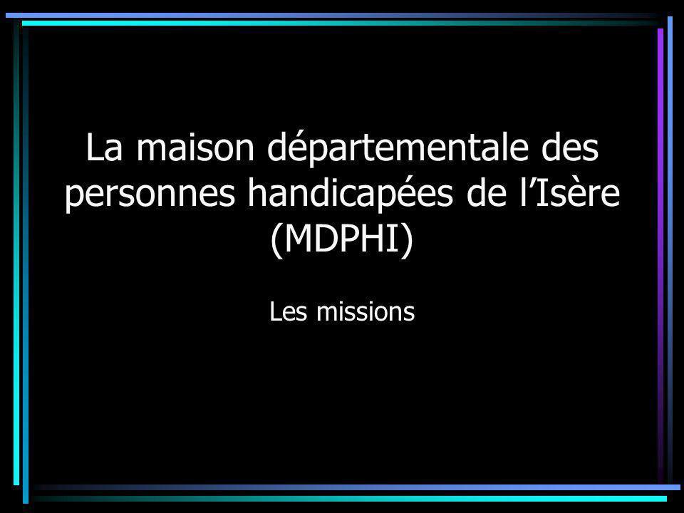 La maison départementale des personnes handicapées de l'Isère (MDPHI)