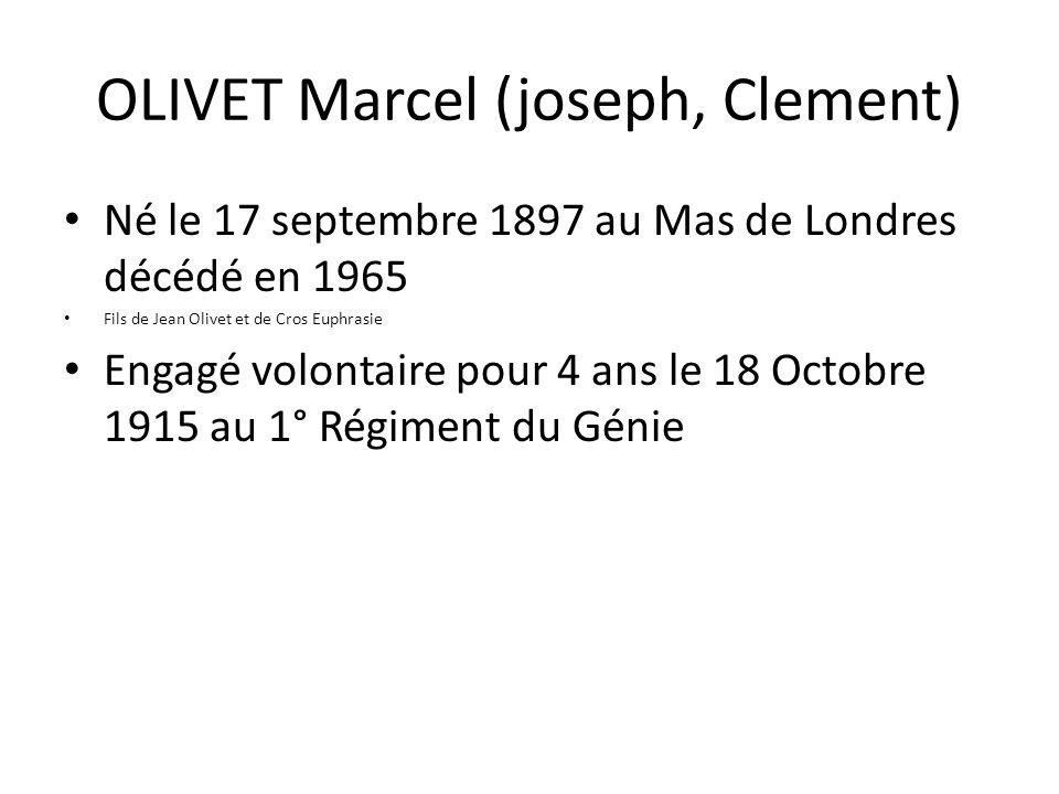 OLIVET Marcel (joseph, Clement)