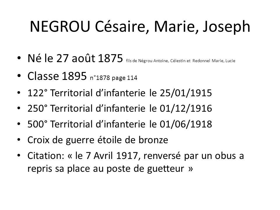 NEGROU Césaire, Marie, Joseph