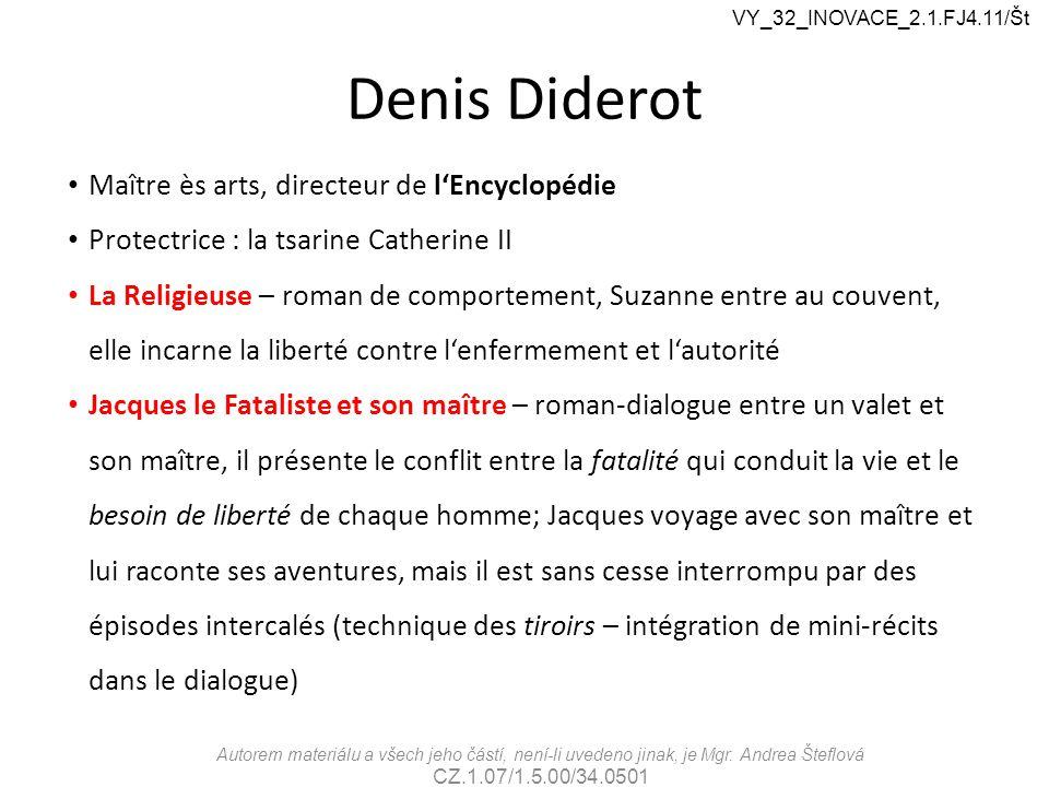 Denis Diderot Maître ès arts, directeur de l'Encyclopédie
