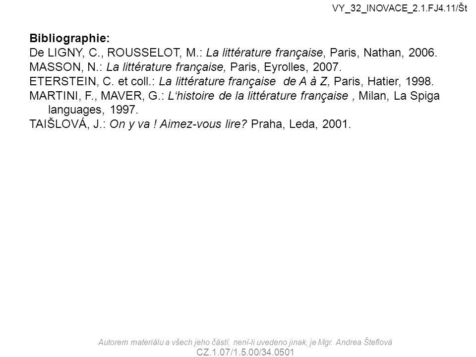 MASSON, N.: La littérature française, Paris, Eyrolles, 2007.
