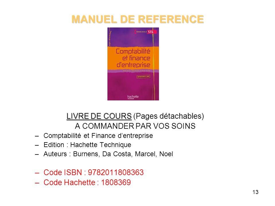 MANUEL DE REFERENCE LIVRE DE COURS (Pages détachables)
