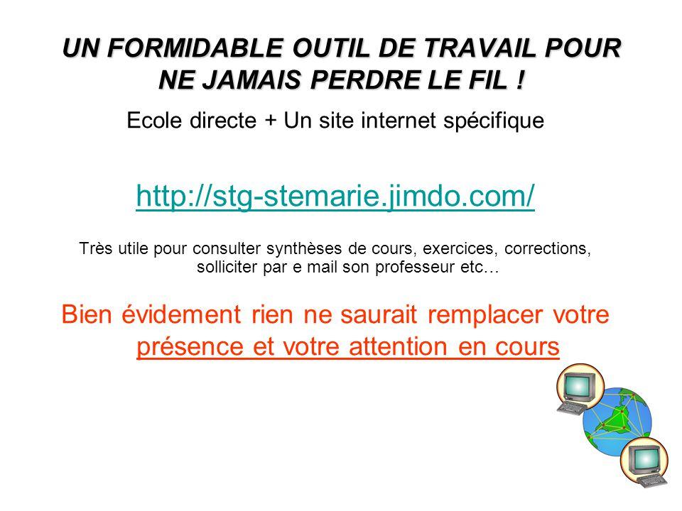 UN FORMIDABLE OUTIL DE TRAVAIL POUR NE JAMAIS PERDRE LE FIL !