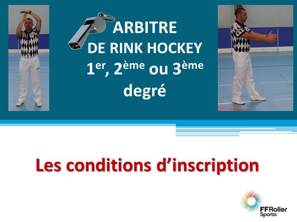 ARBITRE DE RINK HOCKEY 1er, 2ème ou 3ème degré