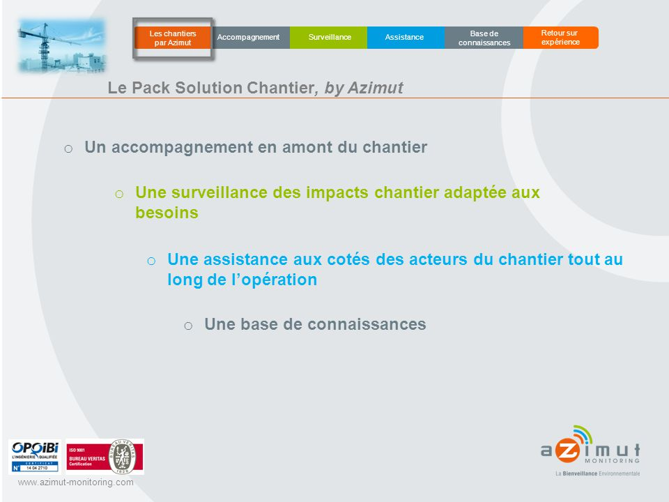Le Pack Solution Chantier, by Azimut