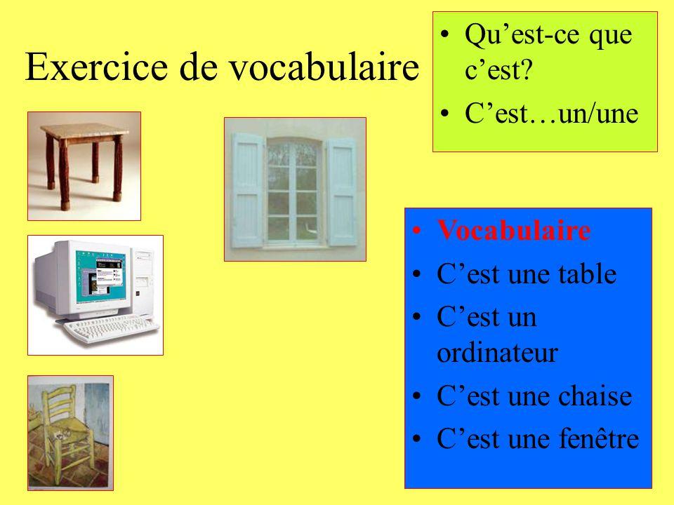 Exercice de vocabulaire