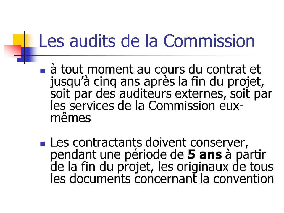 Les audits de la Commission