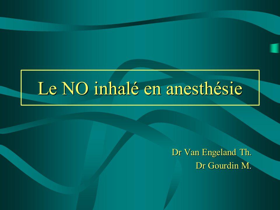 Le NO inhalé en anesthésie