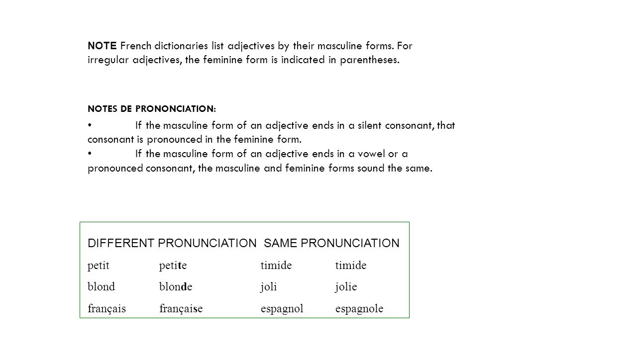 DIFFERENT PRONUNCIATION SAME PRONUNCIATION