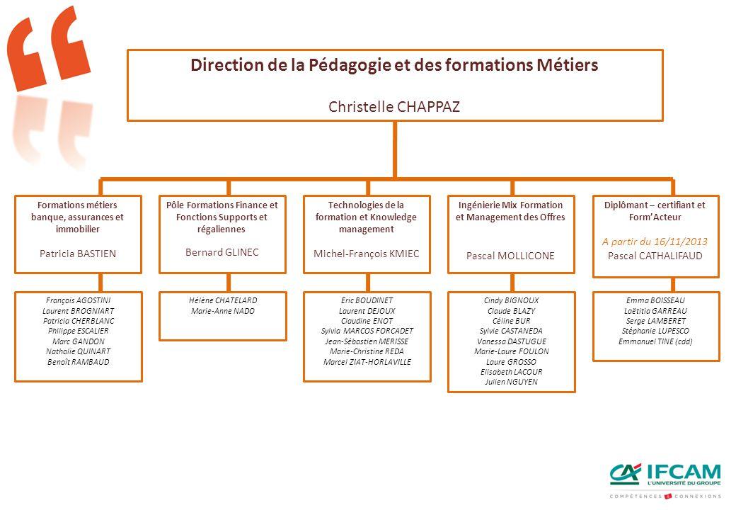 Direction de la Pédagogie et des formations Métiers