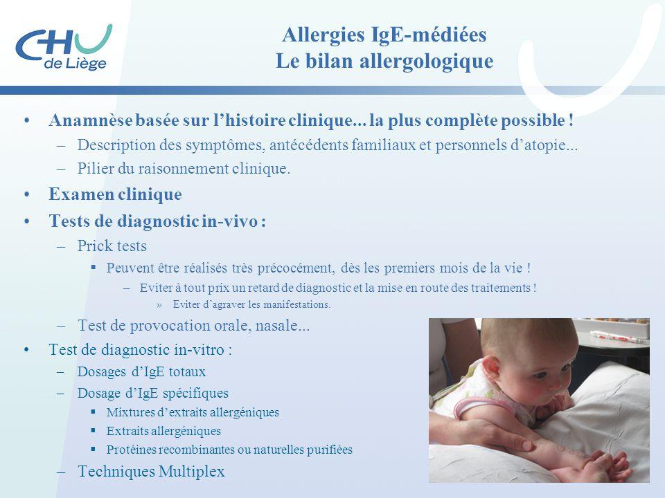 Allergies IgE-médiées Le bilan allergologique