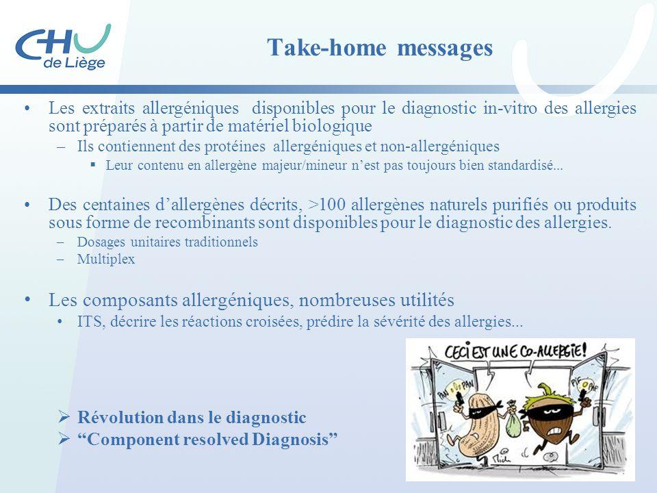 Take-home messages Les composants allergéniques, nombreuses utilités