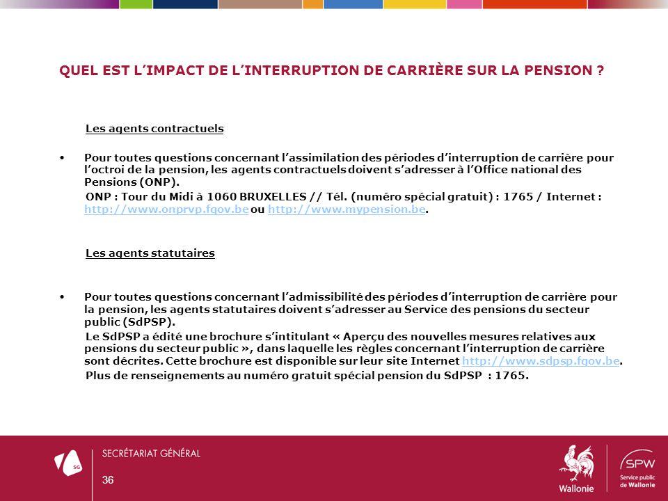Quel est l'impact de l'interruption de carrière sur LA pension