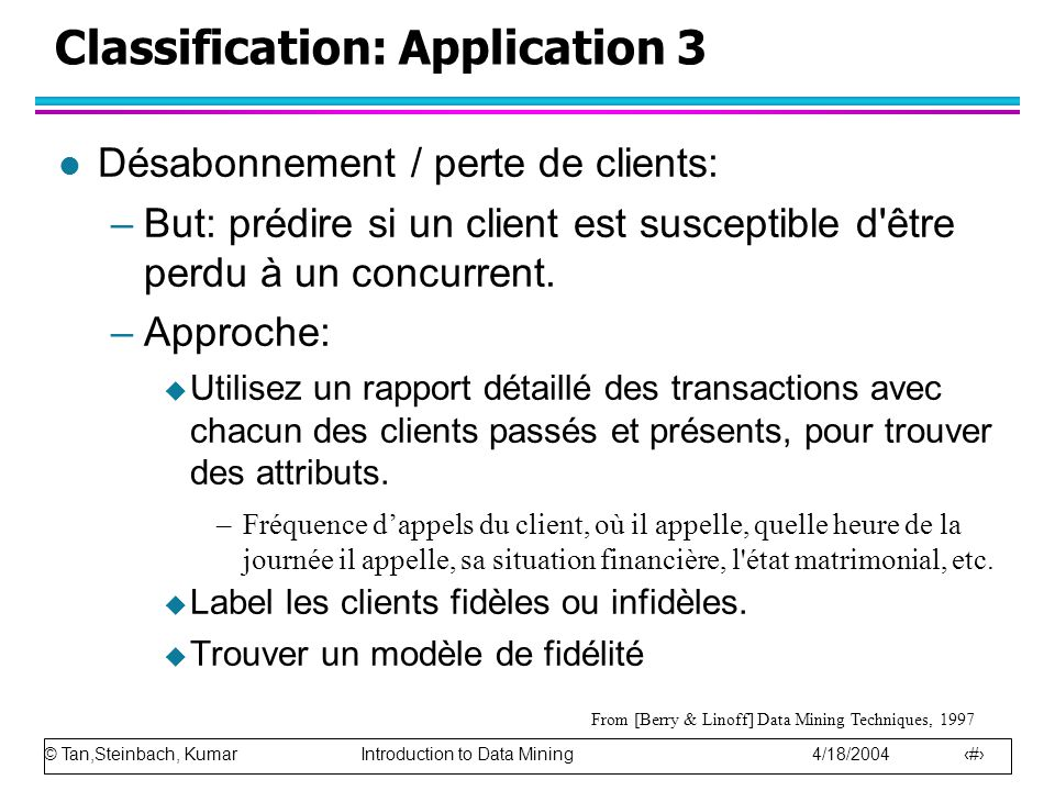 Classification: Application 3
