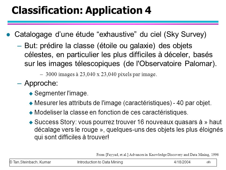 Classification: Application 4