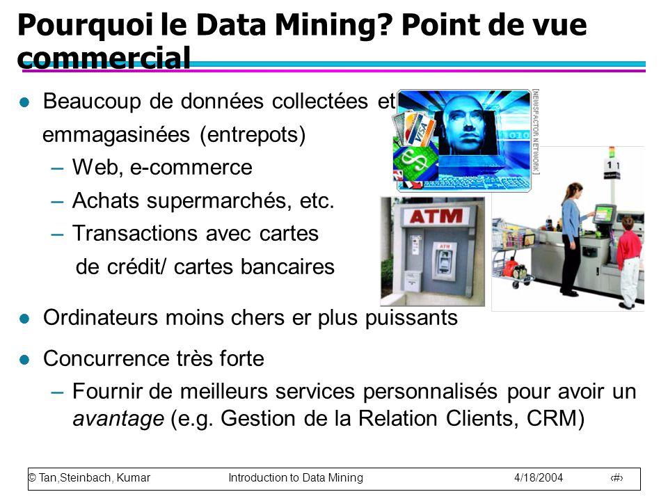Pourquoi le Data Mining Point de vue commercial