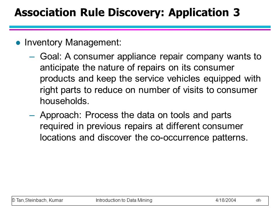 Association Rule Discovery: Application 3
