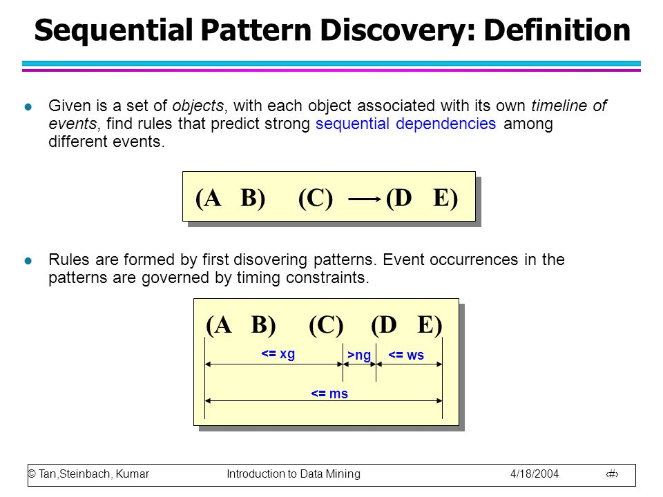 Sequential Pattern Discovery: Definition