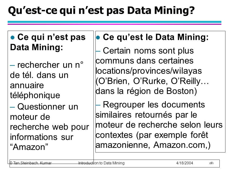 Qu'est-ce qui n'est pas Data Mining