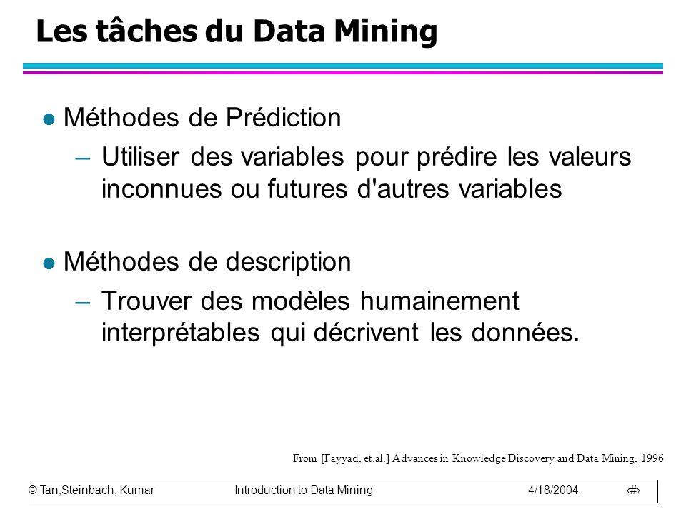 Les tâches du Data Mining