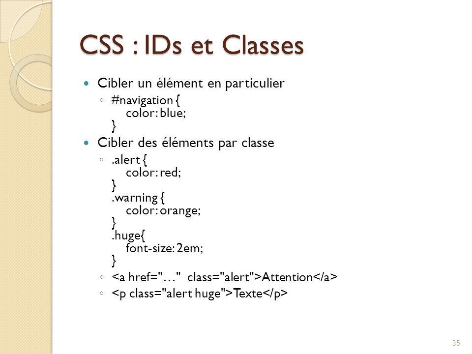 CSS : IDs et Classes Cibler un élément en particulier