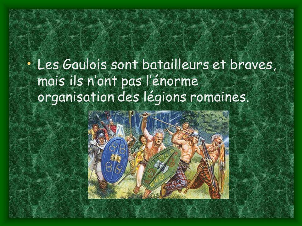 Les Gaulois sont batailleurs et braves, mais ils n'ont pas l'énorme organisation des légions romaines.