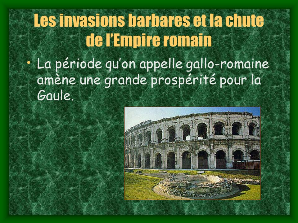 Les invasions barbares et la chute de l'Empire romain